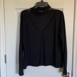 Cut Out, High Neck Top